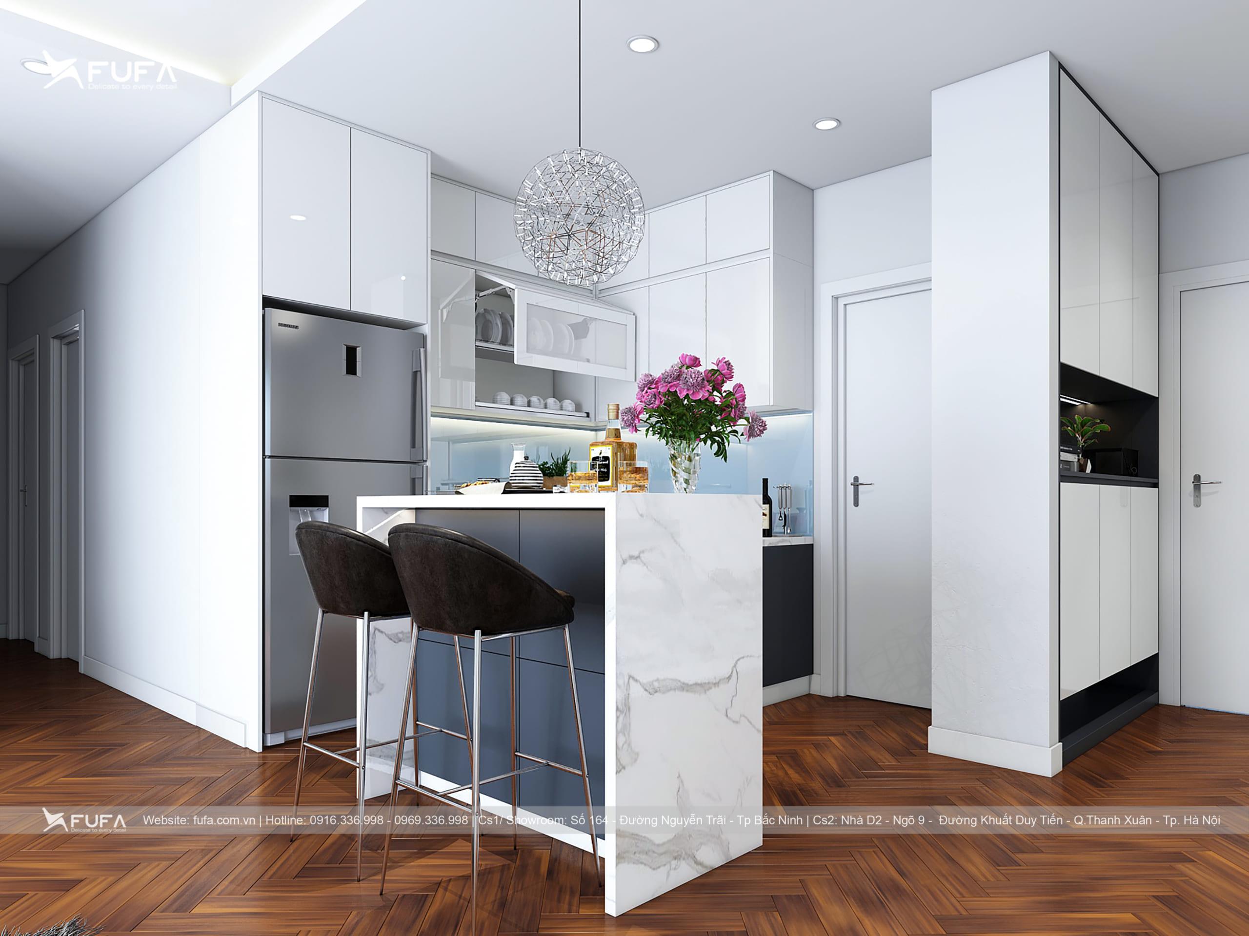Nhựa acrylic ứng dụng làm tủ bếp